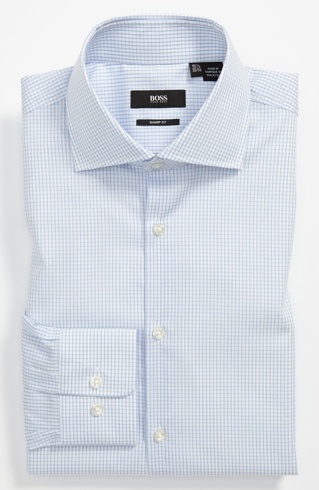 ,                             HUGO BOSS Sharp Fit Dress Shirt,                             Main thumbnail 1, color,                             451