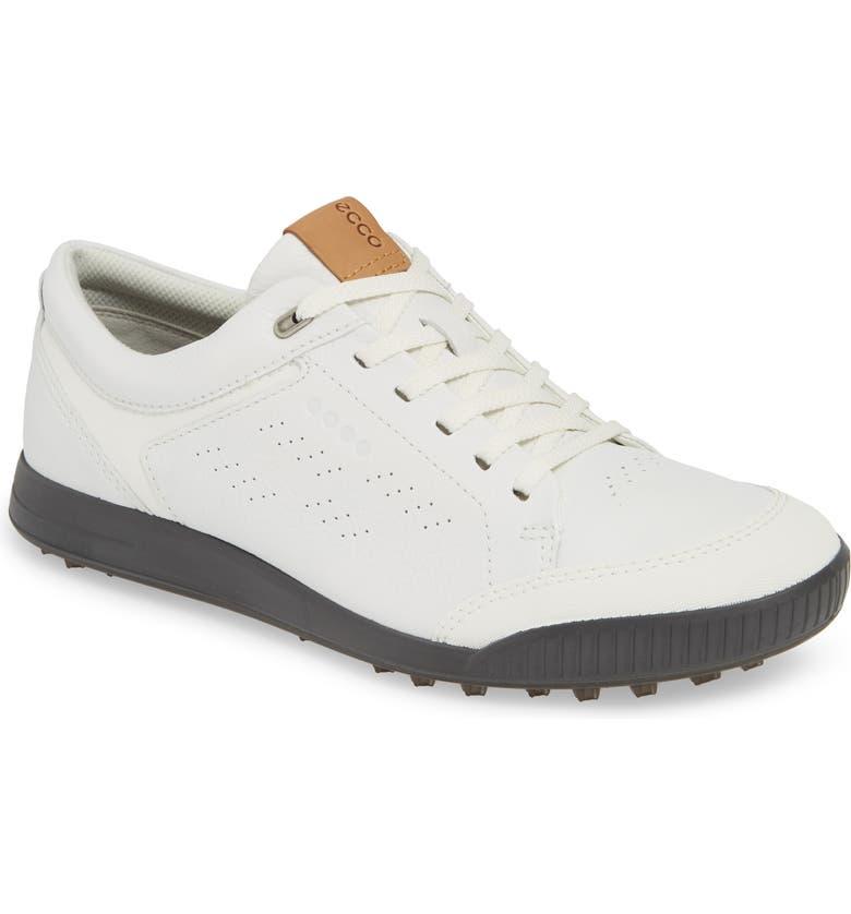 ECCO Street Retro LX Golf Shoe, Main, color, WHITE LEATHER