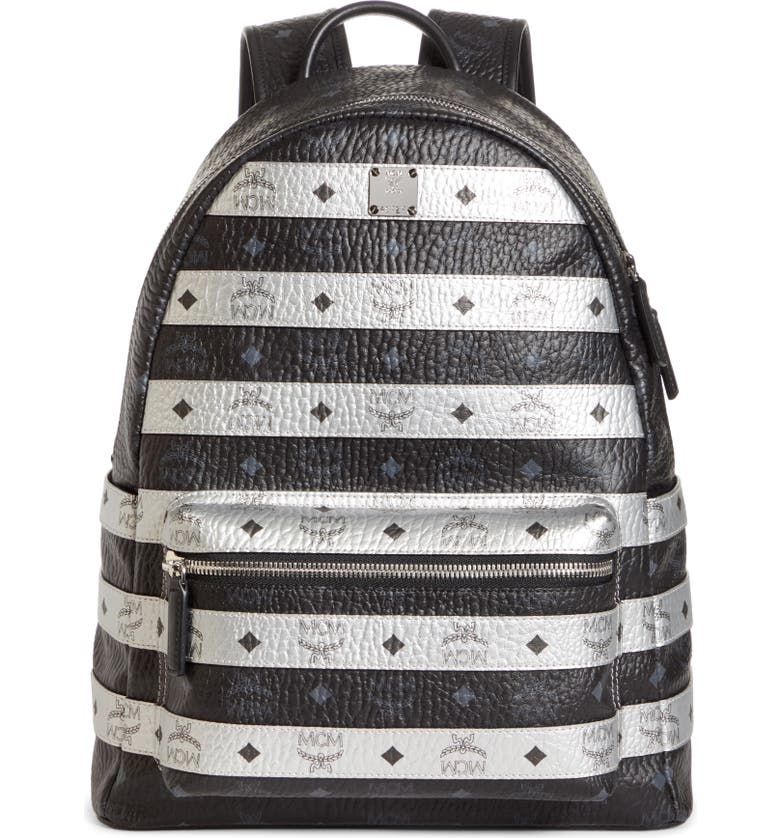 MCM Visetos Backpack, Main, color, BLACK