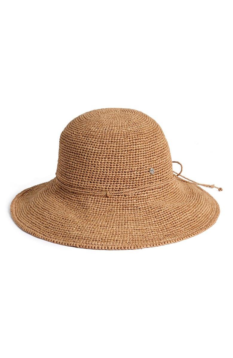 HELEN KAMINSKI Tahani Raffia Hat, Main, color, NOUGAT
