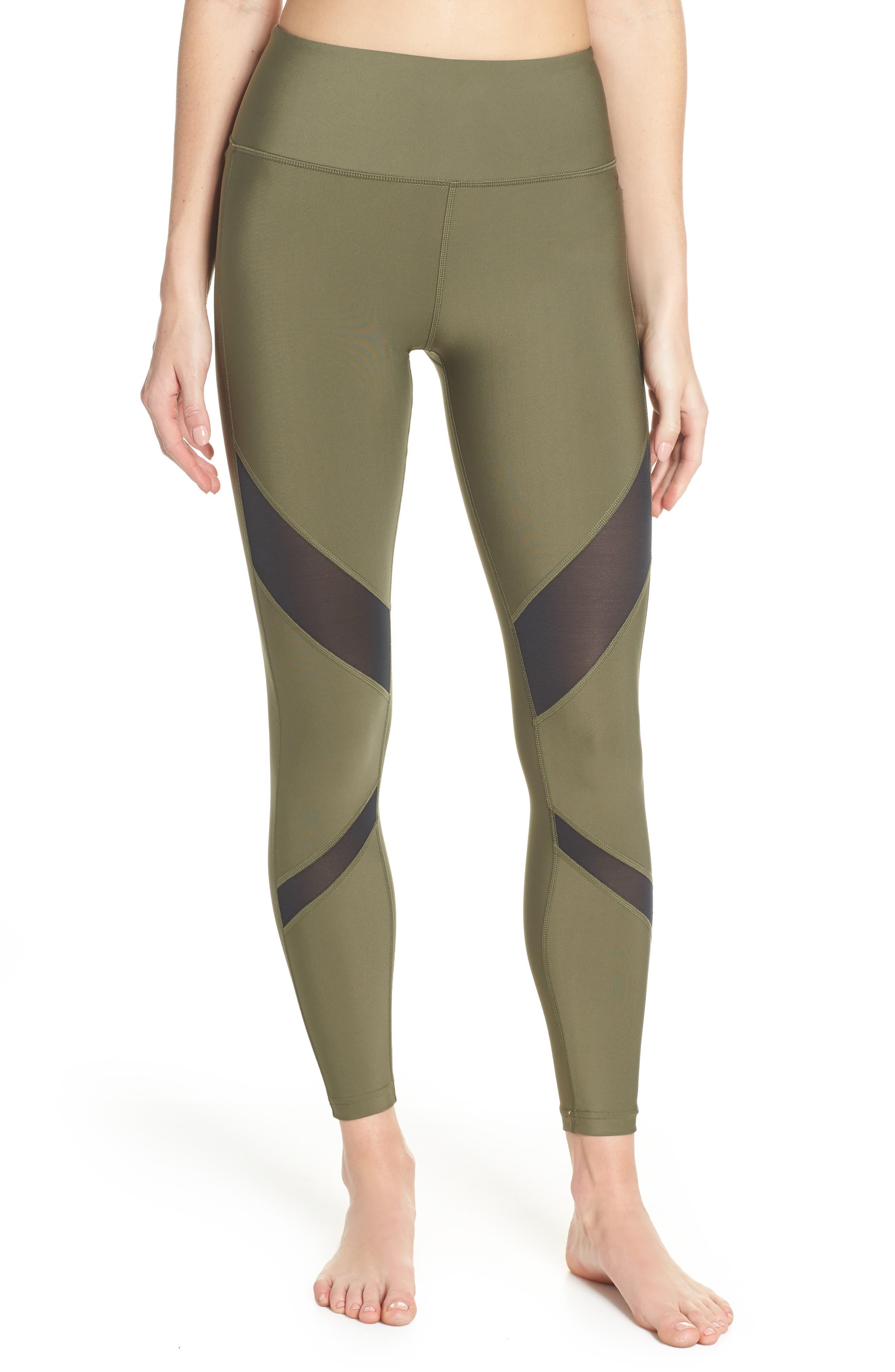 Hurley Quick Dry Mesh Leggings, Green