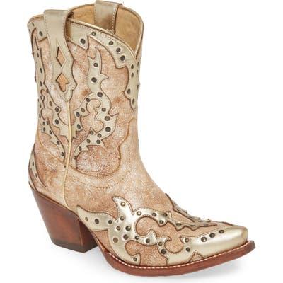 Ariat Sapphire Studded Western Boot- Beige