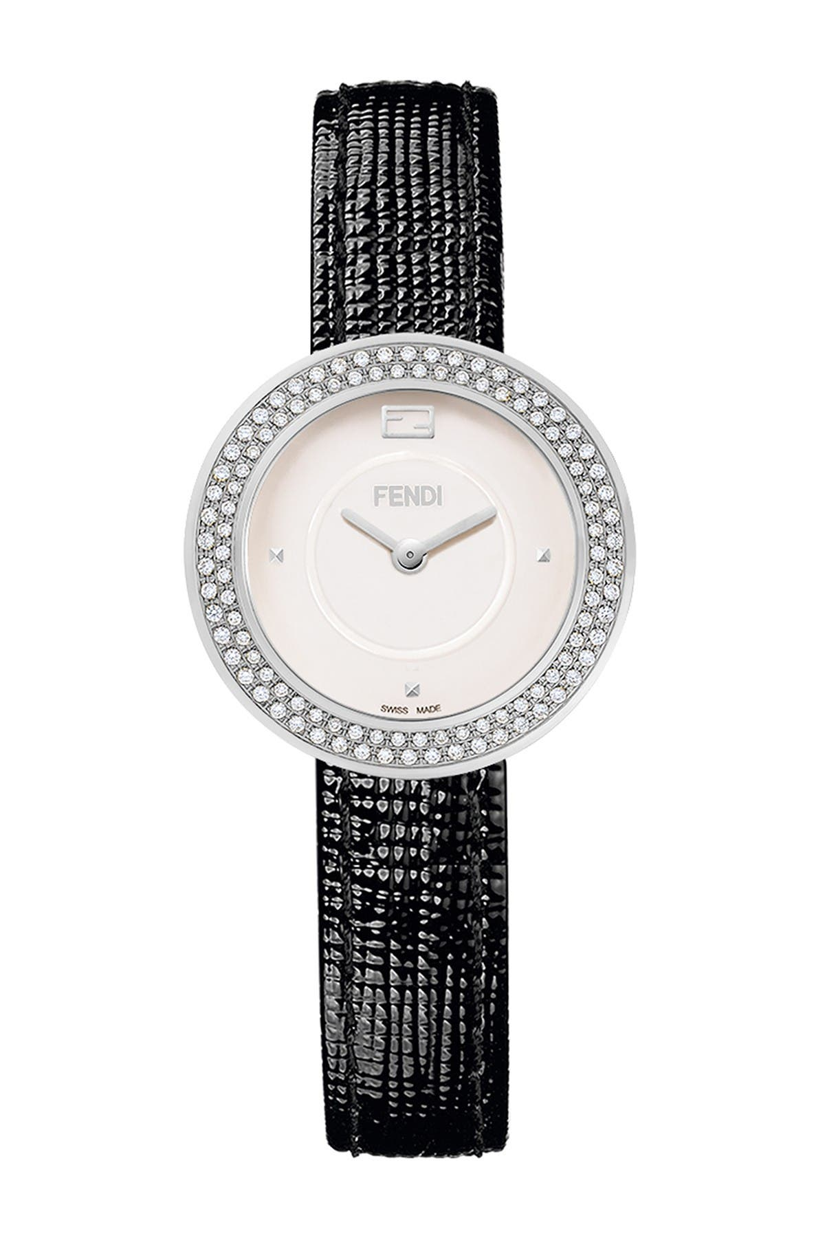 Image of FENDI Womens Fendi My Way Leather Strap Watch, 28mm - 0.45 ctw