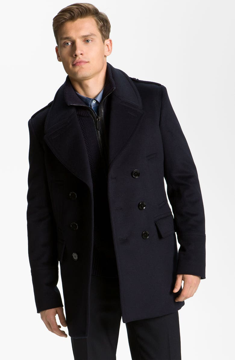 d8991084a Burberry London Wool and Cashmere Peacoat | Nordstrom