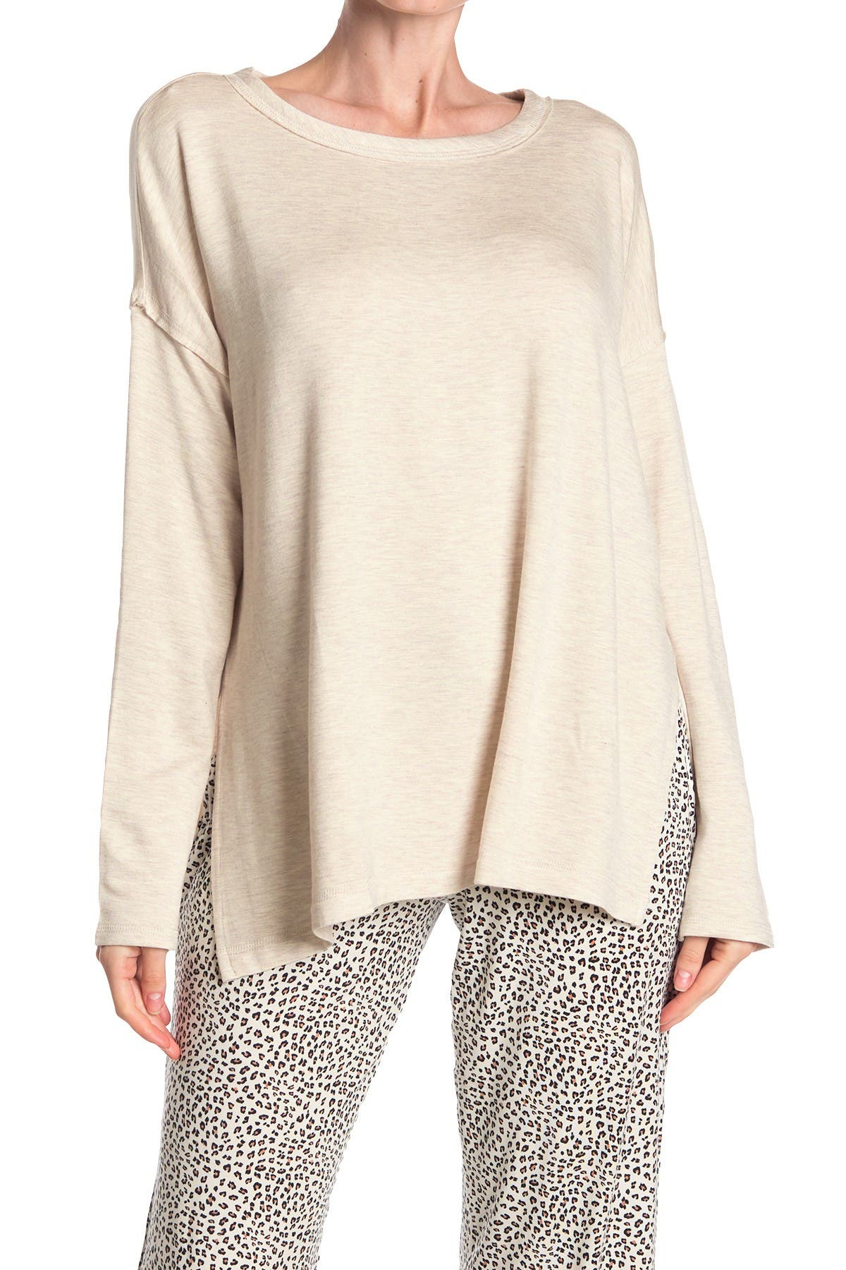 Image of Donna Karan Long Sleeve Pajama T-Shirt