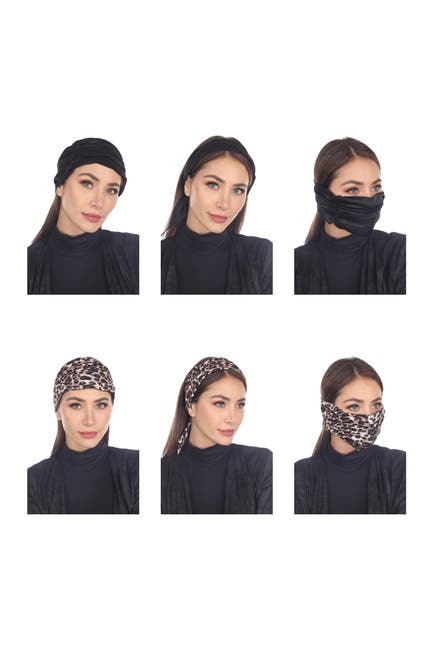 Image of BOHO ME 3-In-1 Adult Face Mask/Headband/Scarf - Pack of 2