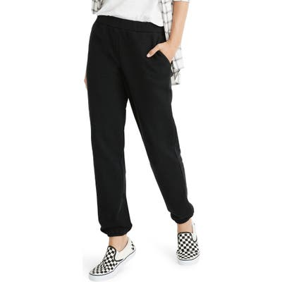 Madewell Jogger Sweatpants, Black