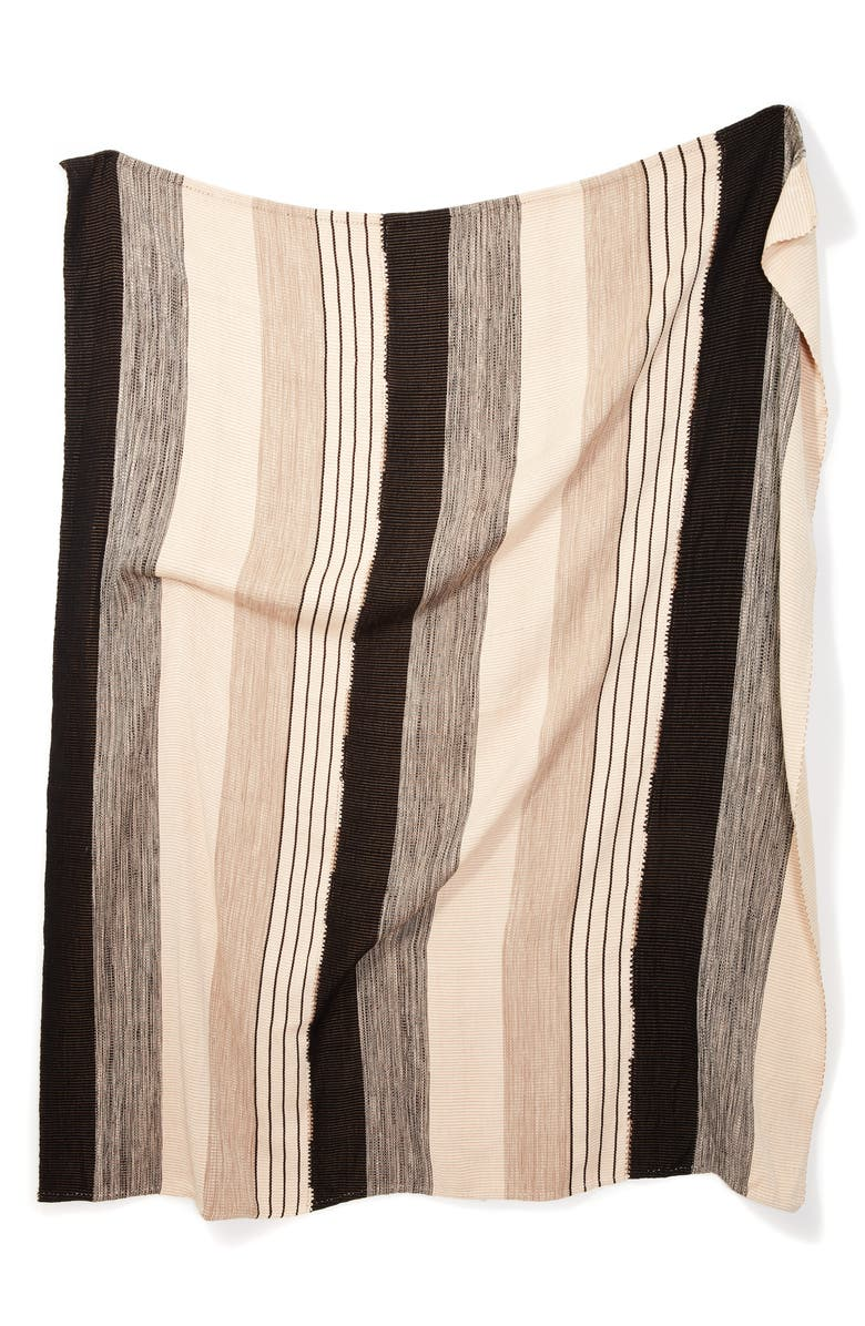 MINNA Pantelho Throw Blanket, Main, color, BLACK/ BEIGE