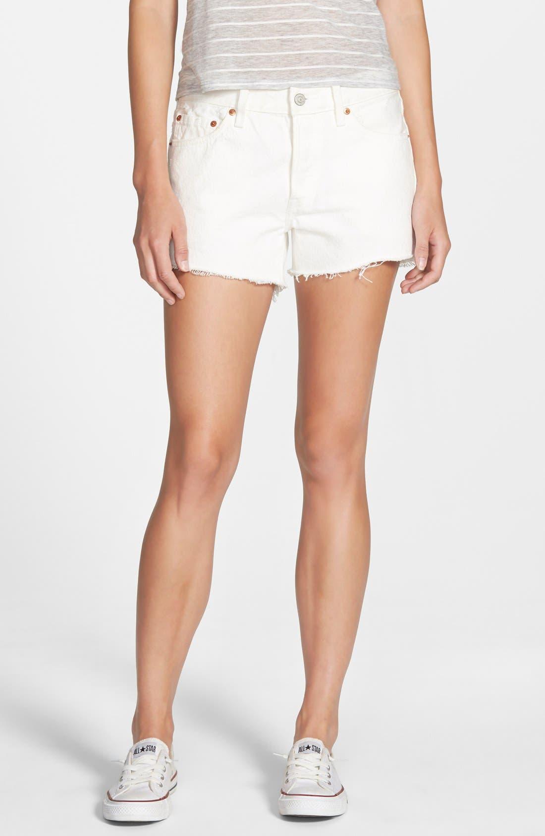 white levi cutoff shorts