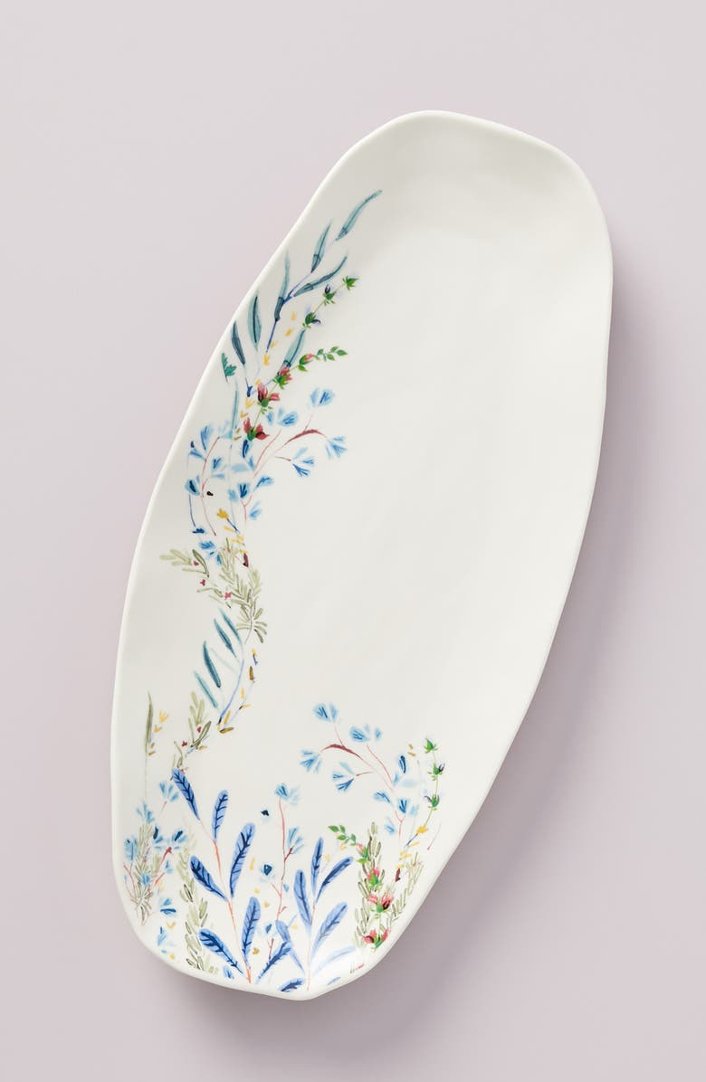 ANTHROPOLOGIE HOME Home Seasonally Good Oval Platter, Main, color, BLUE COMBO