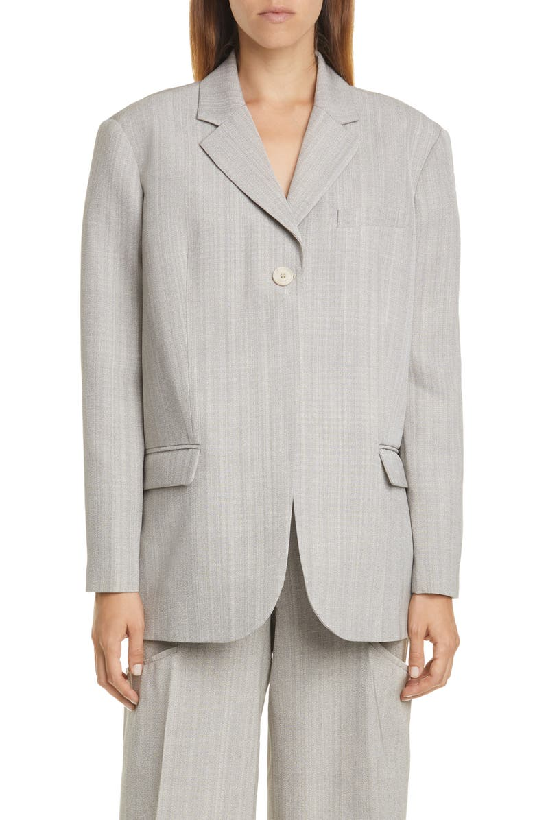 JACQUEMUS Oversize Blazer, Main, color, GREY CHINE