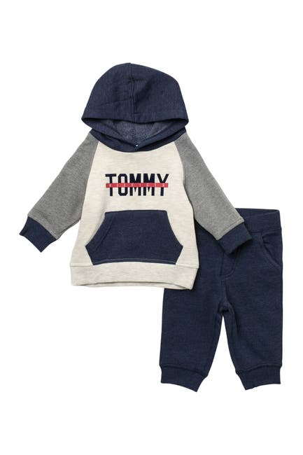 Image of Tommy Hilfiger Colorblock Hoodie & Sweatpants Set