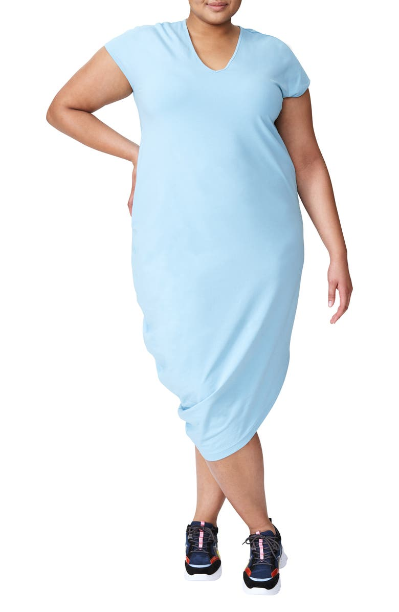 UNIVERSAL STANDARD Geneva Dress, Main, color, MILKY BLUE