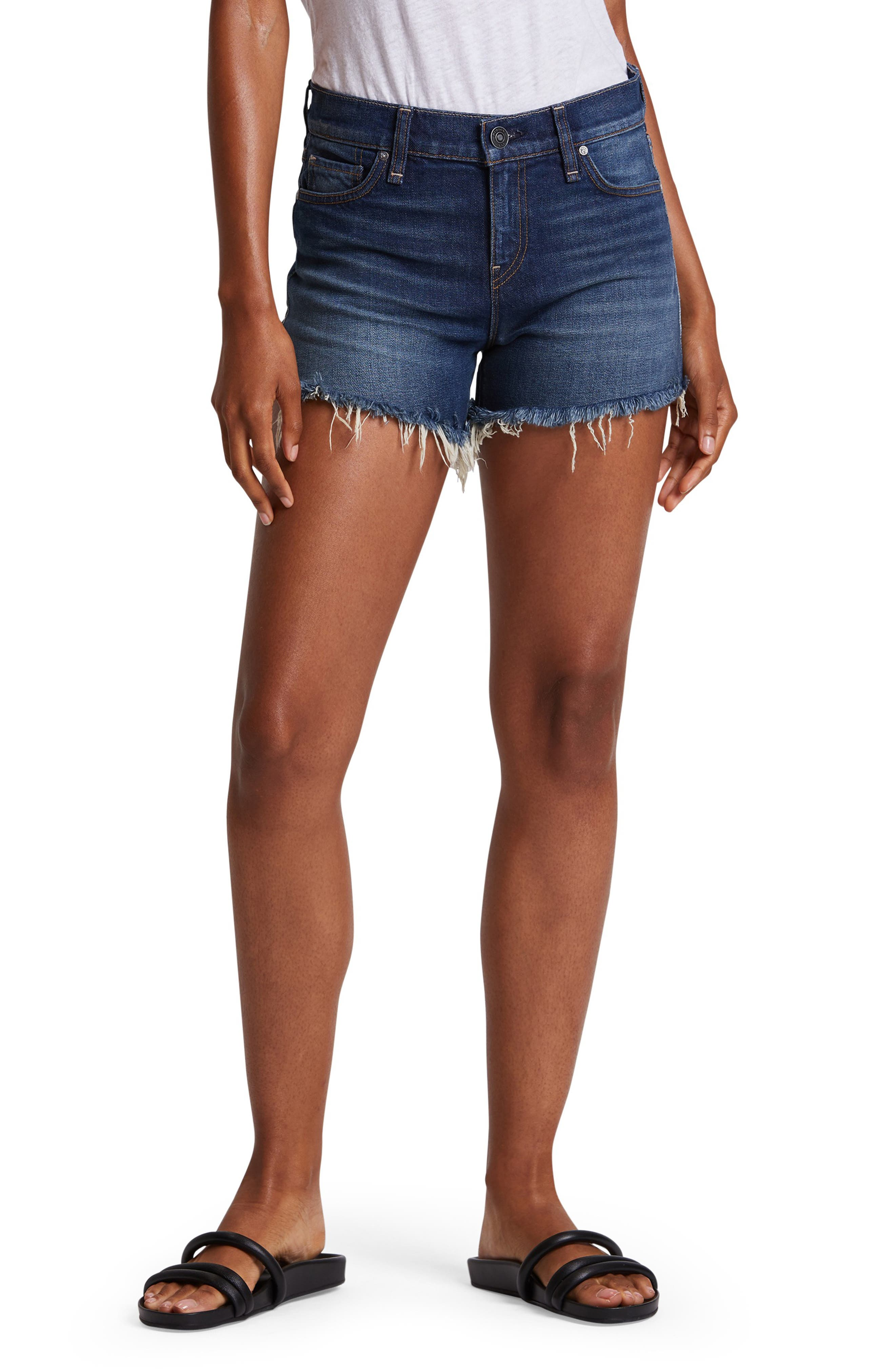 Hudson Jeans Gemma High Waist Cutoff Denim Shorts (Distance)