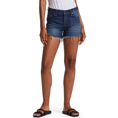 Hudson Jeans Gemma High Waist Cutoff Denim Shorts, Blue