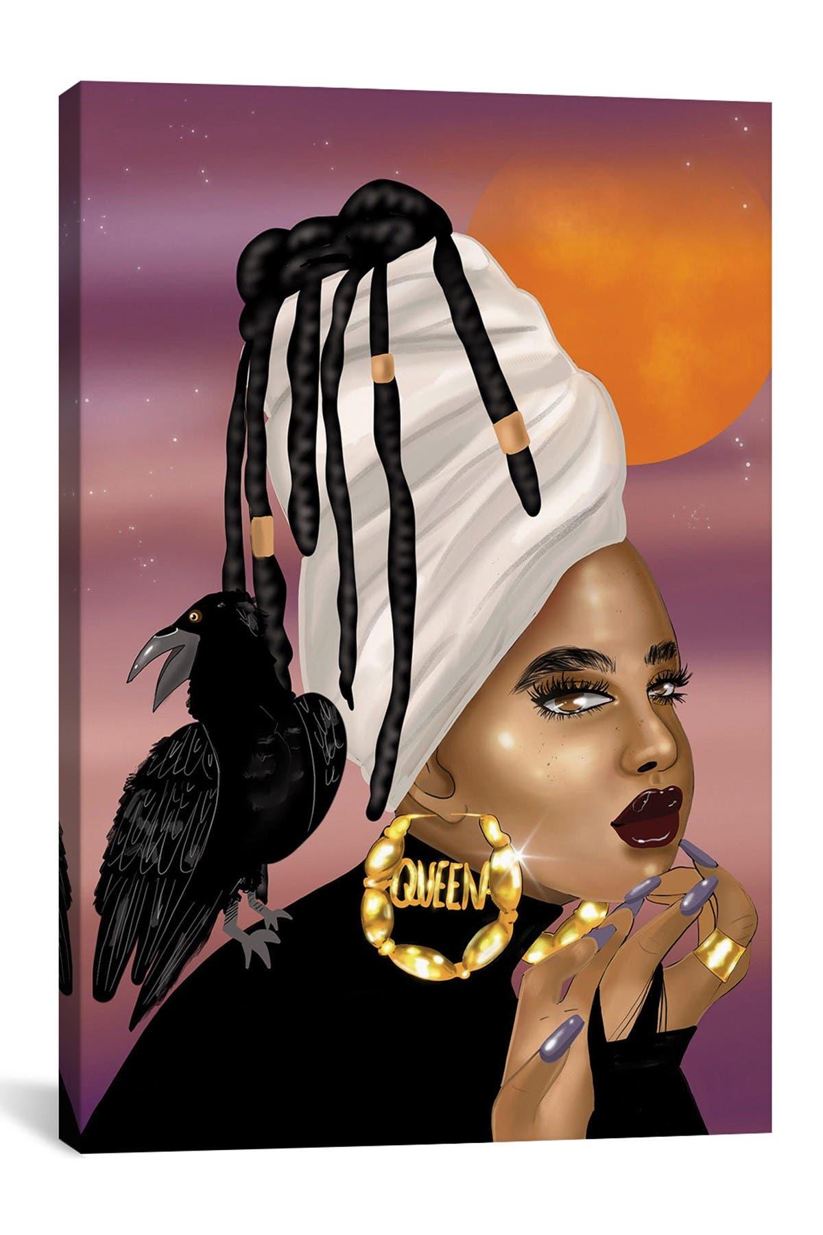 Image of iCanvas Queen Raven by Zola Arts