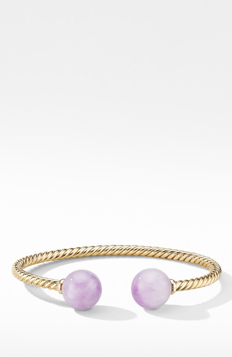 DAVID YURMAN Solari XL Cable Bracelet, Main, color, GOLD/ KUNZITE