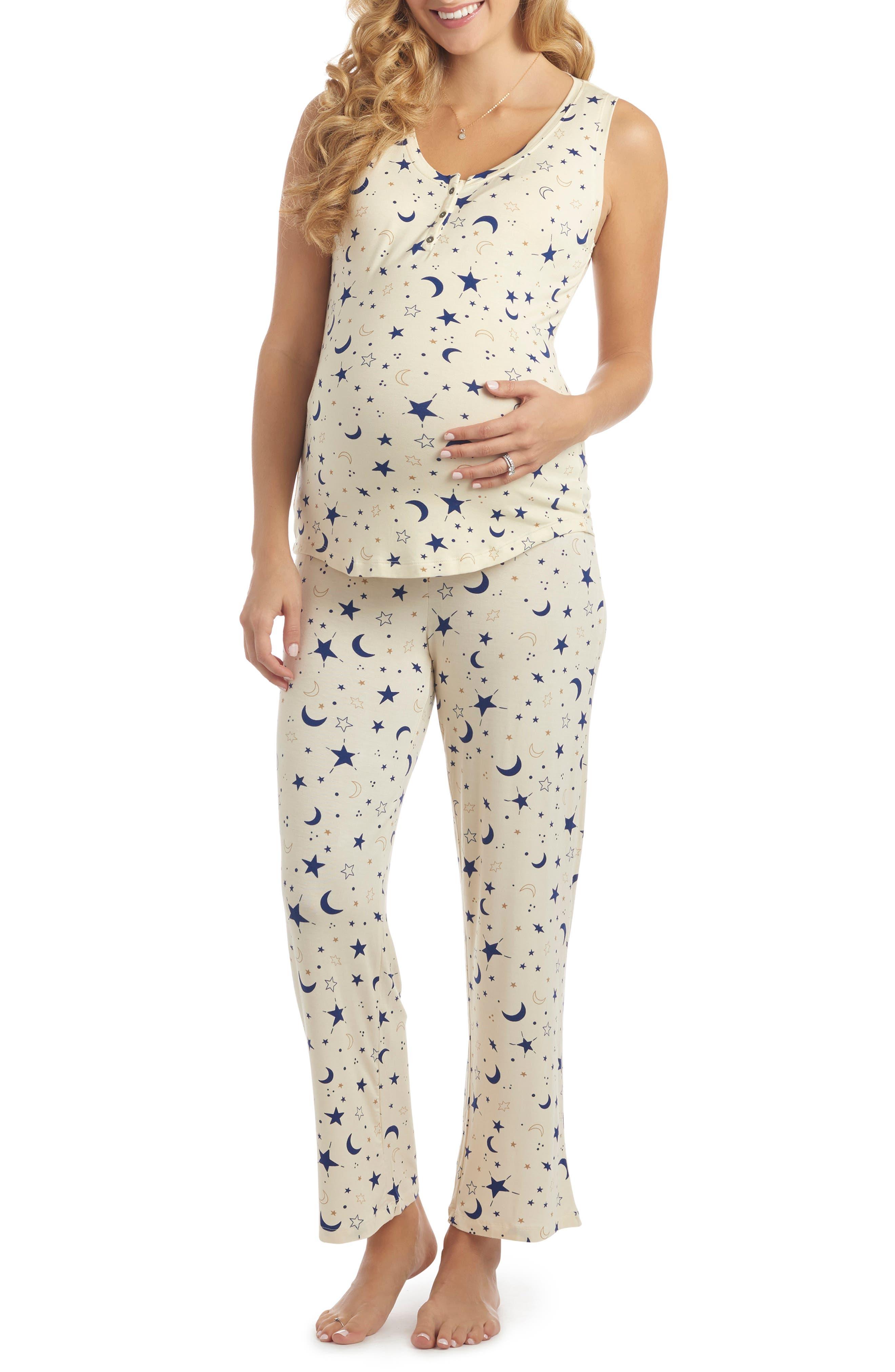 Joy Tank & Pants Maternity/nursing Pajamas