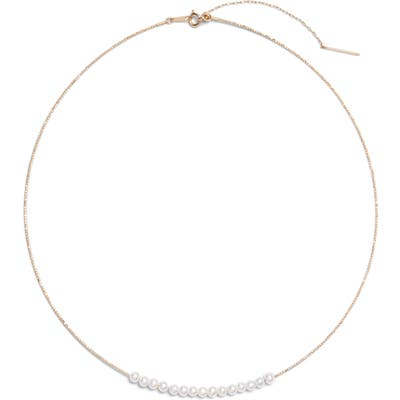 Poppy Finch Baby Pearl Skinny Choker Necklace