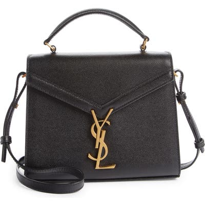 Saint Laurent Mini Cassandra Leather Top Handle Bag -