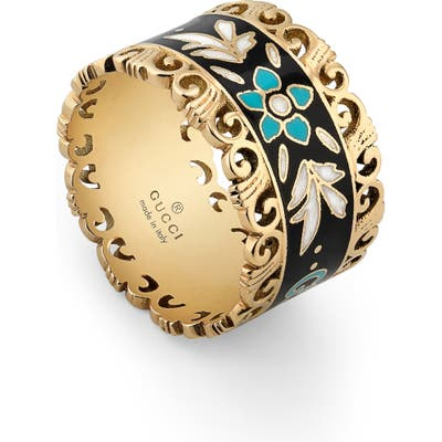 Gucci Icon Blooms Enamel Band