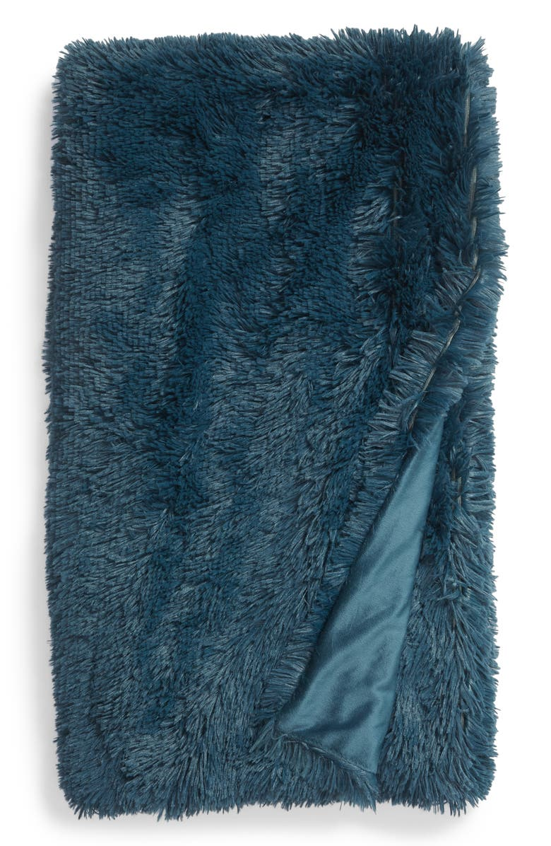 NORDSTROM AT HOME Feather Throw, Main, color, TEAL GAZER