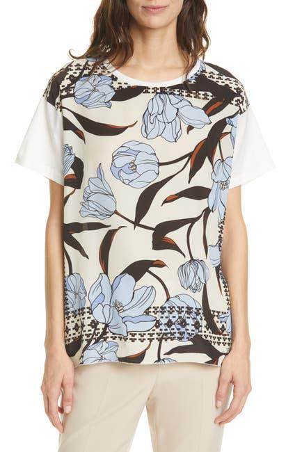 Image of SEVENTY VENEZIA Seventy Floral Front Cotton Top
