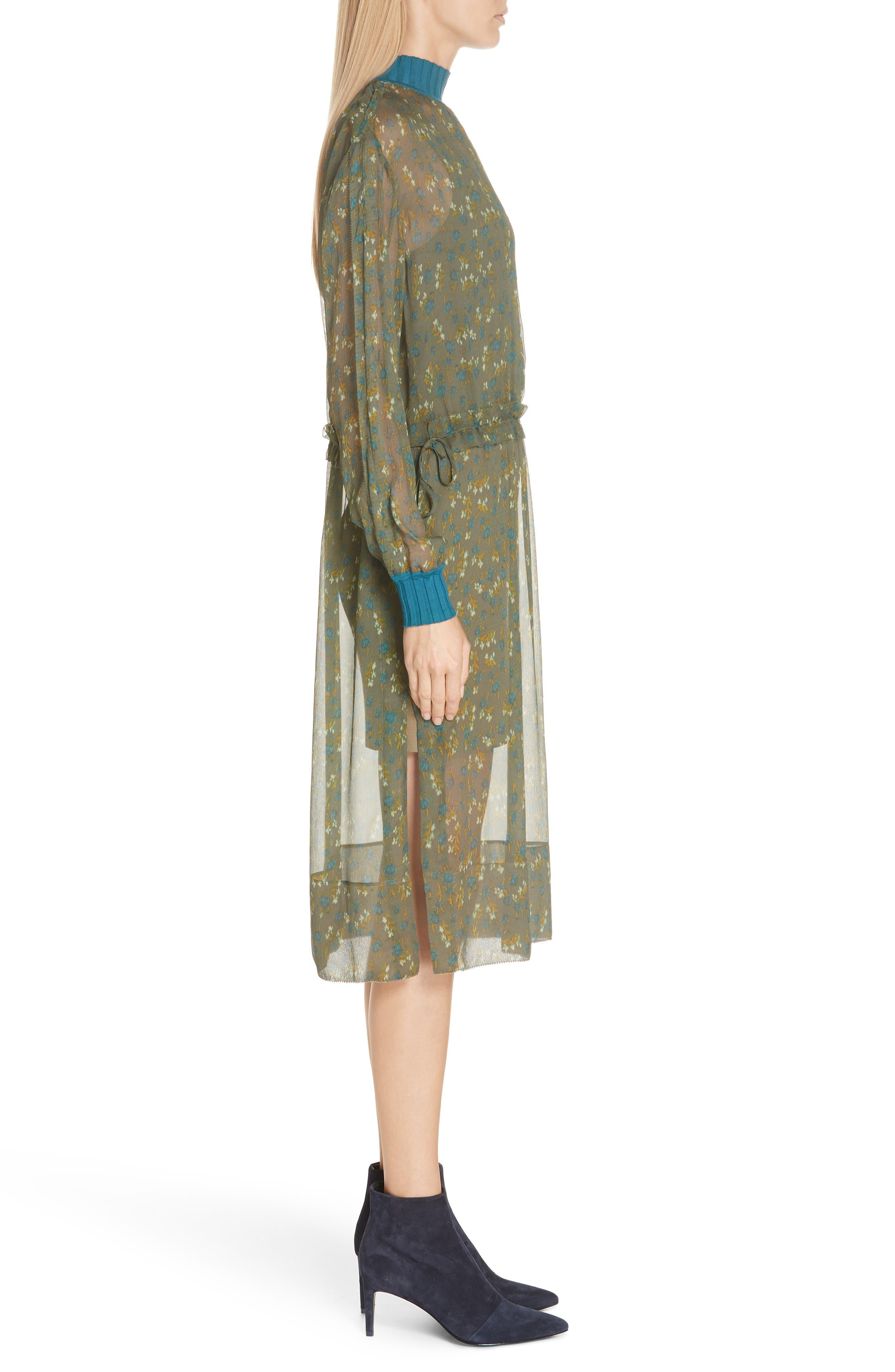 ,                             Dinah Silk Dress,                             Alternate thumbnail 10, color,                             346