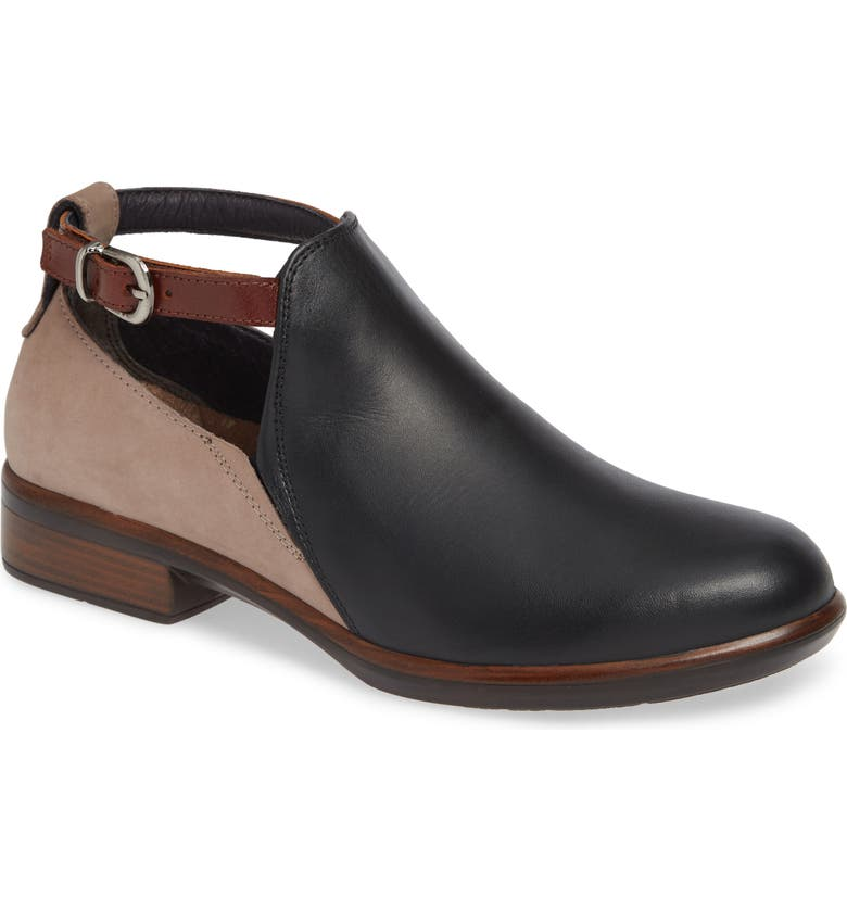 NAOT Kamsin Colorblock Bootie, Main, color, BLACK/ STONE/ COFFEE LEATHER