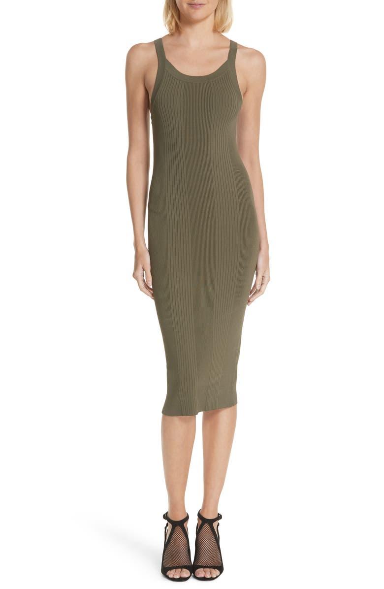 ALEXANDERWANG.T Strap Detail Body-Con Dress, Main, color, 315