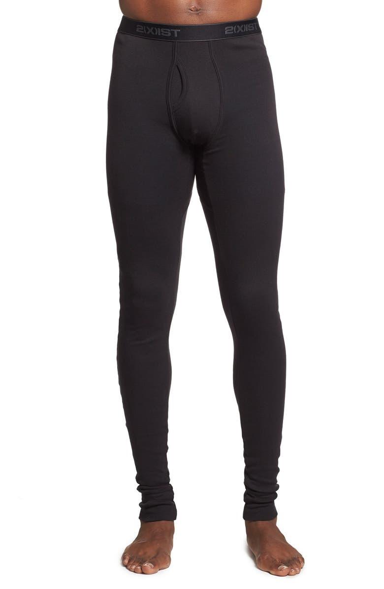2(X)IST Cotton Long Underwear, Main, color, BLACK