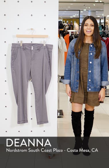 Flora Stretch Cotton Crop Pants, sales video thumbnail