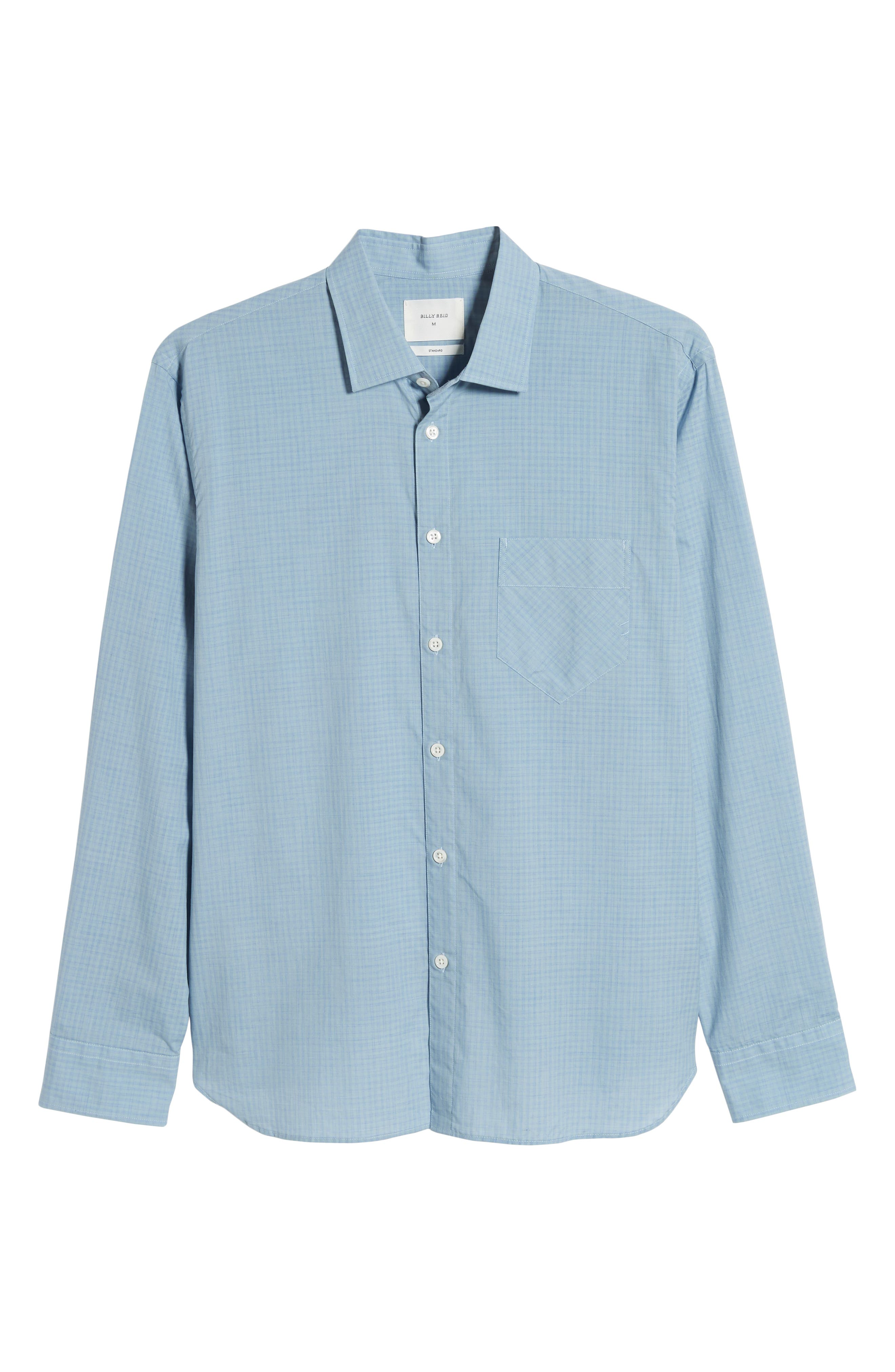 ,                             John T Standard Fit Check Sport Shirt,                             Alternate thumbnail 5, color,                             BLUE