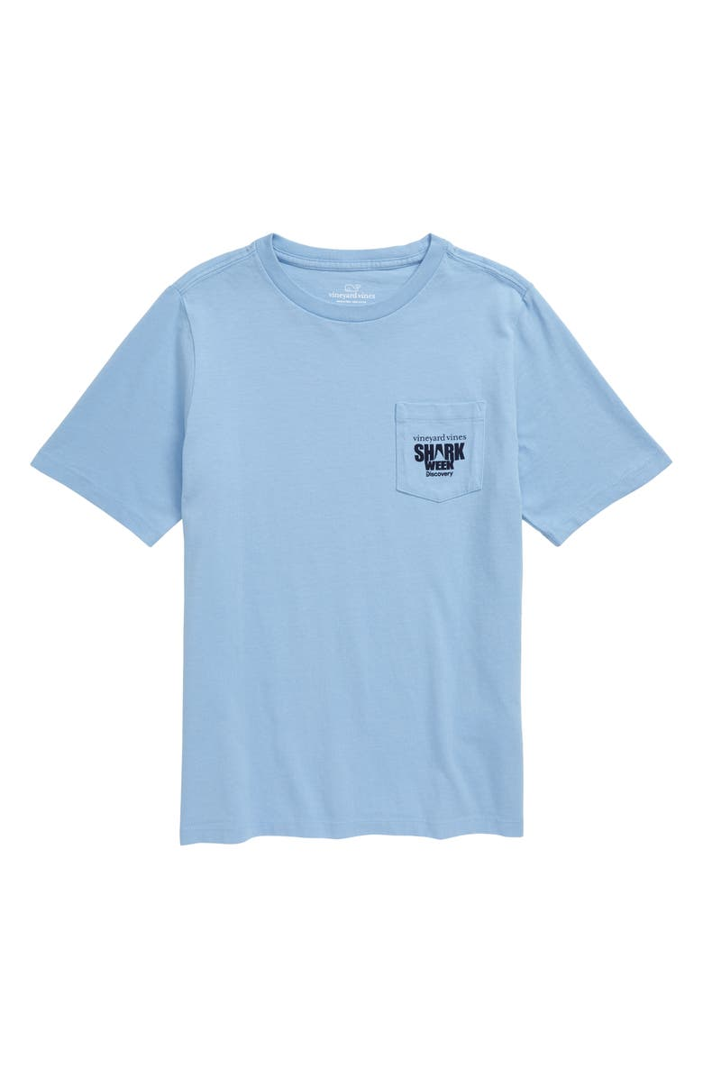Vineyard Vines X Shark Week Cage Diver Pocket T Shirt Big Boys