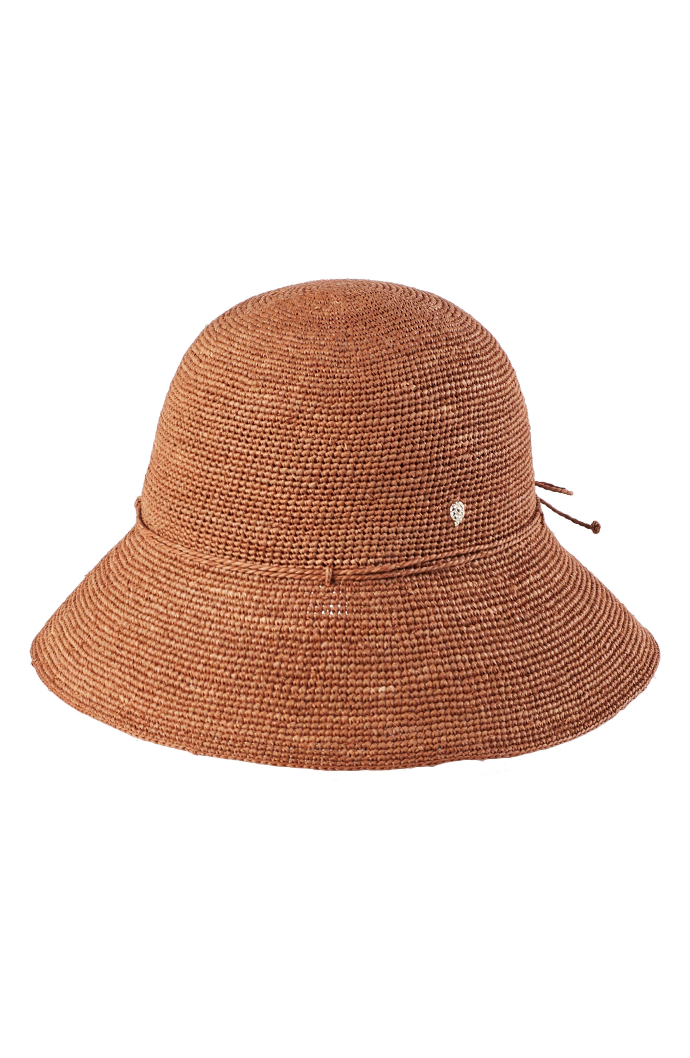 '9 Villa' Raffia Straw Hat, Main, color, DARK MAPLE