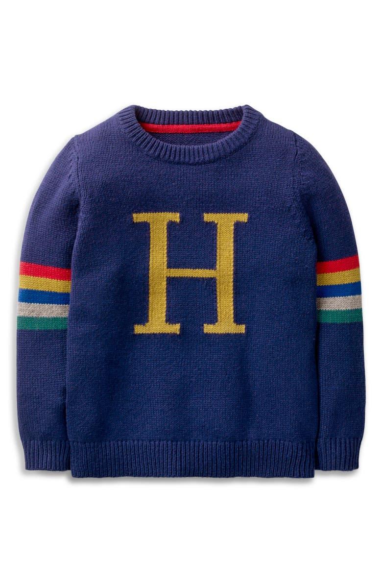MINI BODEN Harry Potter Intarsia Sweater, Main, color, COLLEGE BLUE