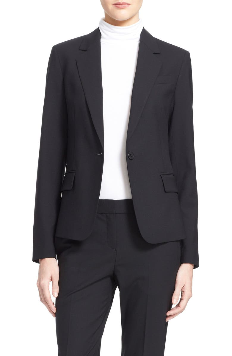THEORY 'Gabe' Stretch Wool Blazer, Main, color, 001