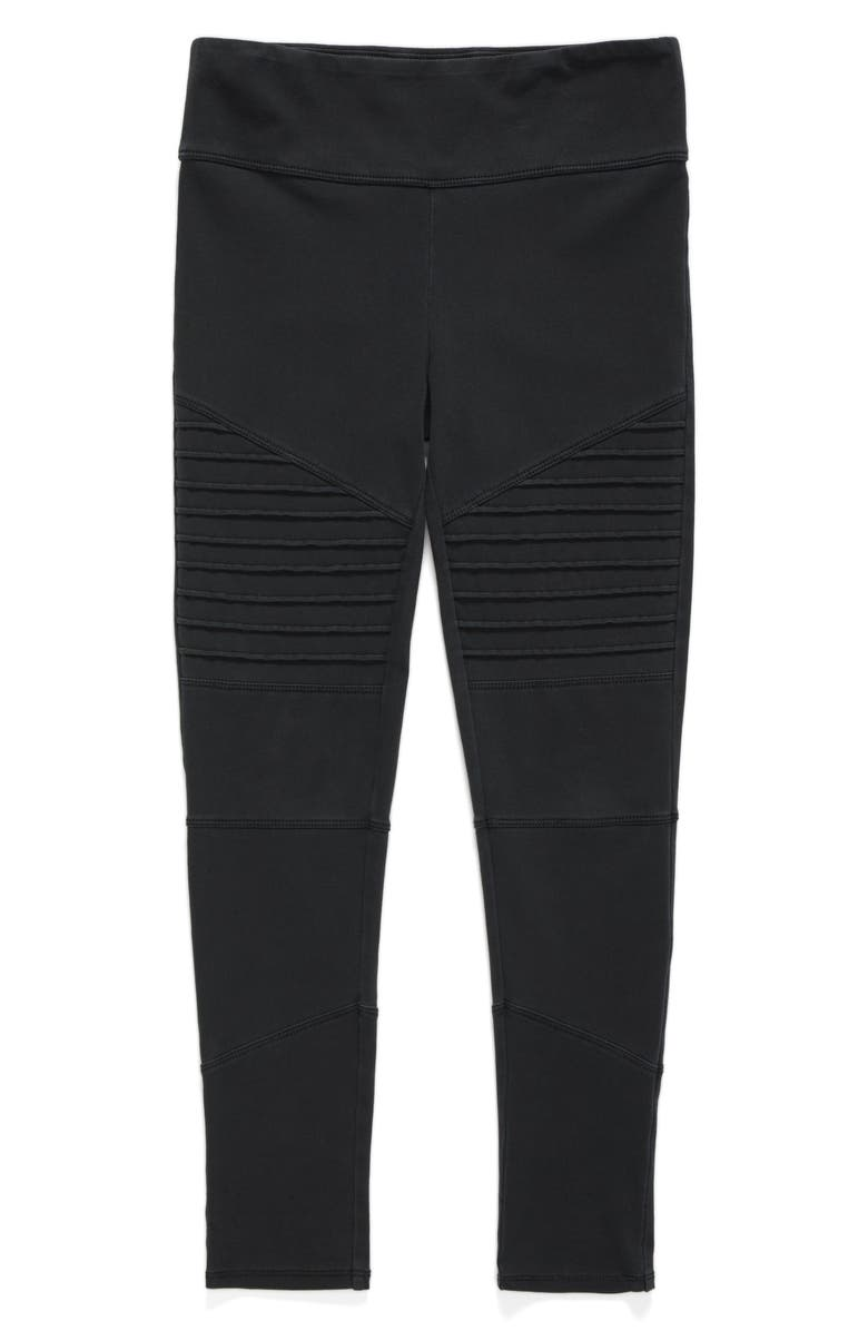 TREASURE & BOND High Waist Moto Pants, Main, color, BLACK ROCK WASH