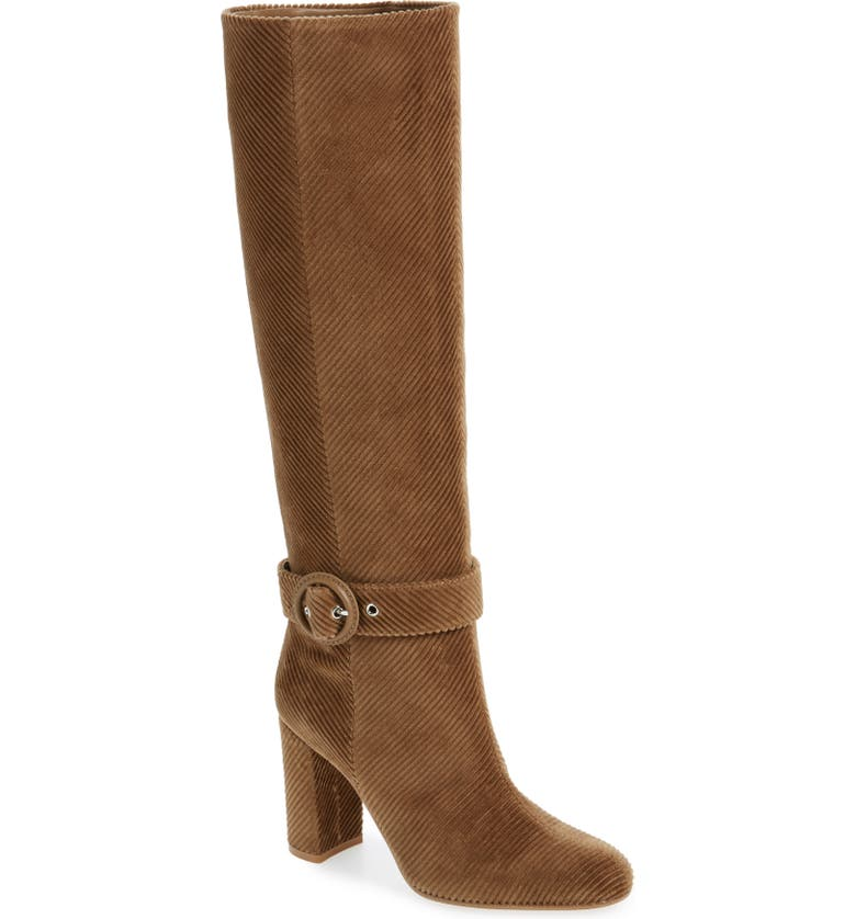 GIANVITO ROSSI Knee High Boot, Main, color, CAMEL SUEDE