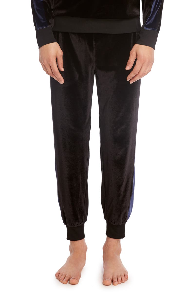 2(X)IST Velour Jogger Pants, Main, color, BLACK