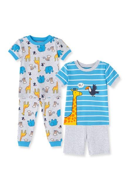 Image of Little Me Safari 4-Piece Sleepwear Set
