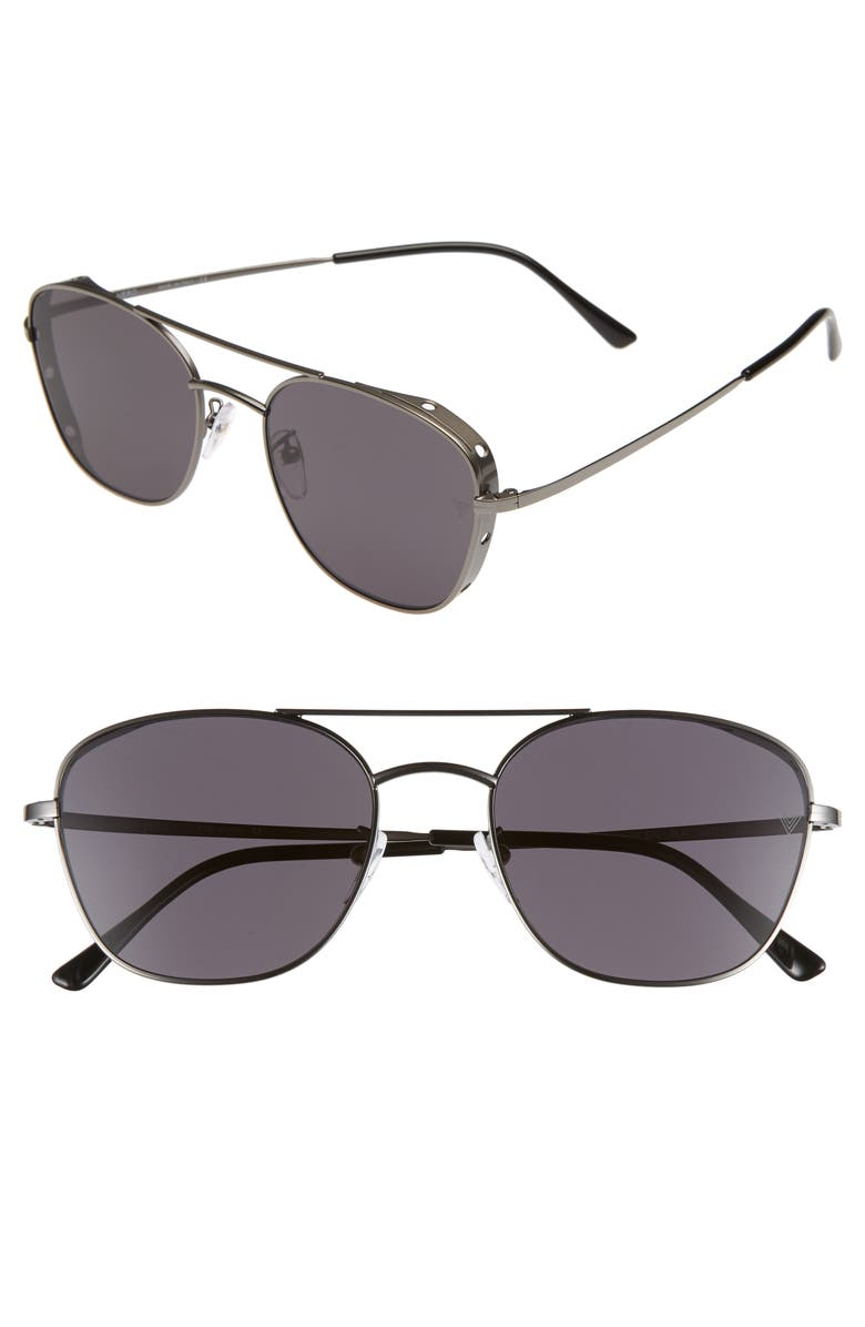 VEDI VERO 56mm Aviator Sunglasses, Main, color, CHARCOAL