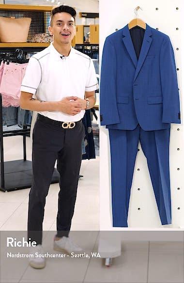 Huge/Genius Slim Fit Plaid Wool Suit, sales video thumbnail