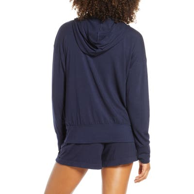 Groceries Apparel Lounge Zip Hoodie, Blue