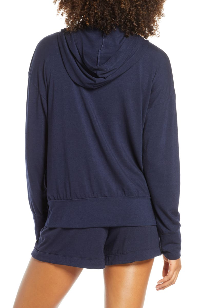 GROCERIES APPAREL Lounge Zip Hoodie, Main, color, INK