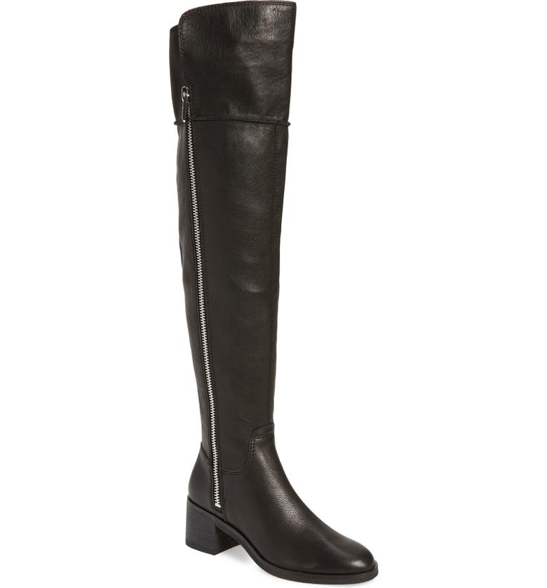 DOLCE VITA Dorien Over the Knee Boot, Main, color, BLACK LEATHER