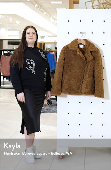 Genuine Shearling & Leather Bomber Jacket, sales video thumbnail