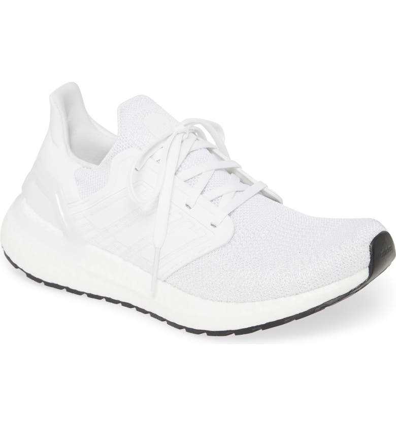 ADIDAS UltraBoost 20 Running Shoe, Main, color, CLOUD WHITE/ WHITE/ CORE BLACK