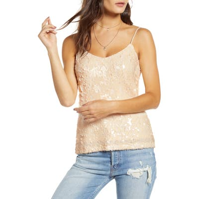 Wayf X Influencers Nashville Sequin Camisole Top, Metallic (Nordstrom Exclusive)