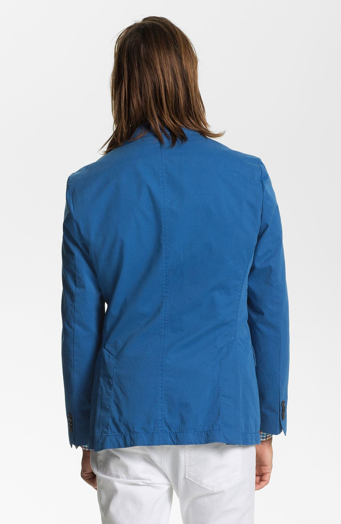 ,                             BOSS HUGO BOSS 'Heaven' Trim Fit Cotton Blazer,                             Alternate thumbnail 2, color,                             440